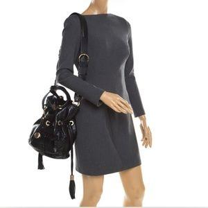 LANCEL Croc Embossed Leather Premier Flirt Bag MED